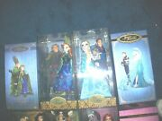 Lot Of 2 Disney Fairytale Designer Frozen Elsa And Hans And Anna And Kristoff Dollsled