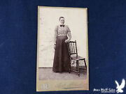 And. Malmberg Cdv Portrait Woman With Chair Floral Blouse Norway