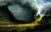 Storm In The Mountains By Albert Bierstadt Oil Painting Repro