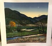 Peter Hurd Lithograph  'days End'