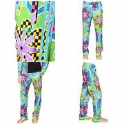 275 Jeremy Scott X Adidas Psychedelic Floral Shellsuit Colorful Pants Rare New