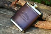 Jack Daniels 6 Oz Single Barrel Select Leather Hip Flask - Tennessee Whiskey