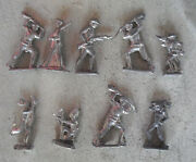 Big Lot Of 8 + Pounds Vintage Lead Toy Soldier And A Few Other Figures 2+ Tall
