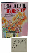 Rhyme Stew Signed By Roald Dahl First Edition 2nd Printing 1989 Hardcover
