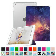 For Apple Ipad Case Slim Shell Translucent Frosted Back Cover Auto Wake/sleep