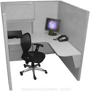 Single - 5and039x5and039 - Refurbished Space Saver Office Cubicles - New Paint And Fabric