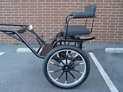 Horse Carriage, 2 Wheel Buggy, 49 Wide Wheel Size 25 Navy