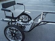 Horse Carriage, 2 Wheel Cart, 49 Wide Wheel Size 27 Navy