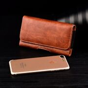 Heavy Duty Horizontal Cell Phone Pouch Case Wallet Card Holder Holster Belt Clip