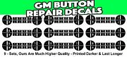 Gm Climate Repair Decal 9 Sets Button Repair Stickers