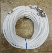 3/8x110 Ft.white Soft Spun Dac/polyester Halyard Spliced In S/s Snap Shackle