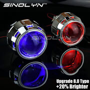 Upgrade 8.0 2.5and039and039 H1 Hid Bi-xenon Projector Lens Retrofit W/ Devil Demon Eyes