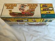 Battery Operated Captain Kidd Pirate Ship By Frankonia Toys Mib Unused Old Stock