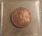 1916 Canadian Copper Large One Cent Coin Bu R/b