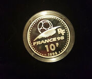 France Silver Proof 10 Francs Coin 1998 Year Fifa Football World Cup