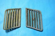 1964-65 Corvette R+l Coupe Side Vent Roof Grills Used Gm