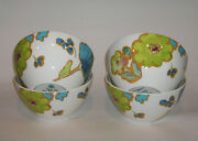Lenox Floral Fusion Blue All Purpose Deep Nesting Soup Cereal Bowl Set Of 4 New
