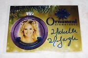 2015 Benchwarmer Michelle Mclaughlin Holiday 75 Blue Ornament Auto/5 Playboy