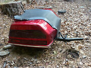 1994-2000 Honda Saddlebag Trunk For Hitch 81224-mam-l70zf Type 7 Candy Apple Red