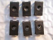 6 Vintage 1957 Ford Headlamp Headlight Retainer Clips New Old Stock