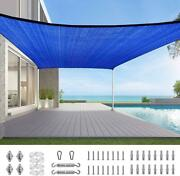 Quictent Rectangle 20'x16' 26'x20' Outdoor Shade Sail Patio Awning Top Canopy Us
