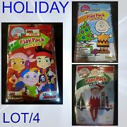 Bendon Holiday Play Pack Lot Of Four Grab And Go Coloring Book Party Favors