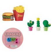 3d Erasers Novelty Collectible School Supplies Party Favors Animals Food And More