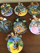 Wizard Of Oz Bradford Exchange 3d Plate Collection Of 7 – Mint