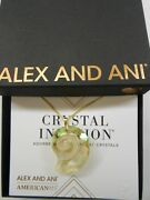Alex And Ani Crystal Infusion Pull Chain Nautilus Kelp Green Pendant Necklace