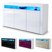 White High Gloss Modern Sideboard Cupboard Unit Contemporary Valencia