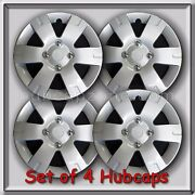 2008-2009 Nissan Sentra Hubcaps 15 Silver Snap On Fits Sentra Wheel Covers 4