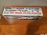 Unopened 2006 Hess Truck, Toy Truck And Helicopter. Box Never Opened.