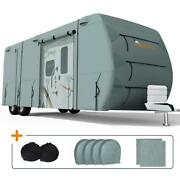 King Bird 27and039-30and039 Travel Trailer Rv Cover Extra-thick 4-ply 160g Camper Storage