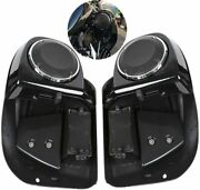 Lower Vented Leg Fairing + 6.5 Speakers W/ Grills Fit For Harley Touring 14-21