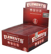 1 Box 50x Elements Red King Size Slim Hanf Papers From Hemp
