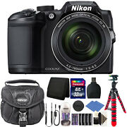 Nikon Coolpix B500 Camera 40x Optical Zoom 2 Battery And Charger 32 Gb Bundle