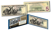 1890and039s Educational Series Neoclassical Designed New Legal Tender Modern 5 Bill