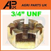 Hub Spindle Nut 3/4 Unf For Ford 2000 2600 3000 3600 4000 4600 5000 Tractor