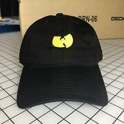 Wu-tang Dad Hat Unstructured Baseball Cap Black Brand New - Free Shipping