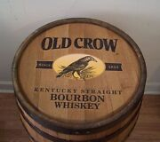 Whiskey Barrel Old Crow Kentucky Straight Bourbon-sanded-finished-free Shipping