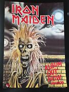 Iron Maiden - 1st Lp 1980 Promo Poster Rare Emi Records Promotional Display
