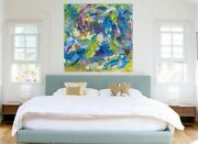 Modern Art Signedabstract Acrylic Painting Homeandofficeandcommercialfree Evening