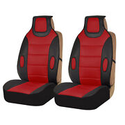 Red Black Leatherette Cushion Pads With 3d Air Mesh