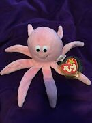 Very Rare Inky Pink Octopus Beanie Baby