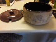 150 Year Old Antique French Pottery With Lid And Ladle Typically For Lamb Dishes