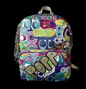 Nwt Coach Limited Edition Poppy Pop C Multi Collectible Backpack Book Bag Rare