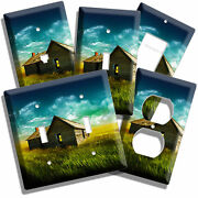 Old Wooden Farm House Cabin Weat Field Wind Vane Room Decor Light Switch Outlets