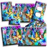 Colorful Butterflies Light Switch Outlet Wall Plate Bedroom Room Art Home Decor