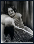 Oversize - Exquisite Mary Astor Dblwt Photo By Schafer - Vg+ Cond 10x14 Large