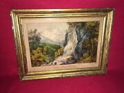Original Currier And Ives Print Valley Falls - Virginia Great Color Gilt Frame